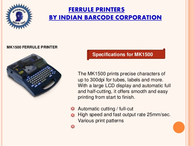 MK1500 Ferrule Printer Ferrule Printer in Bareilly>