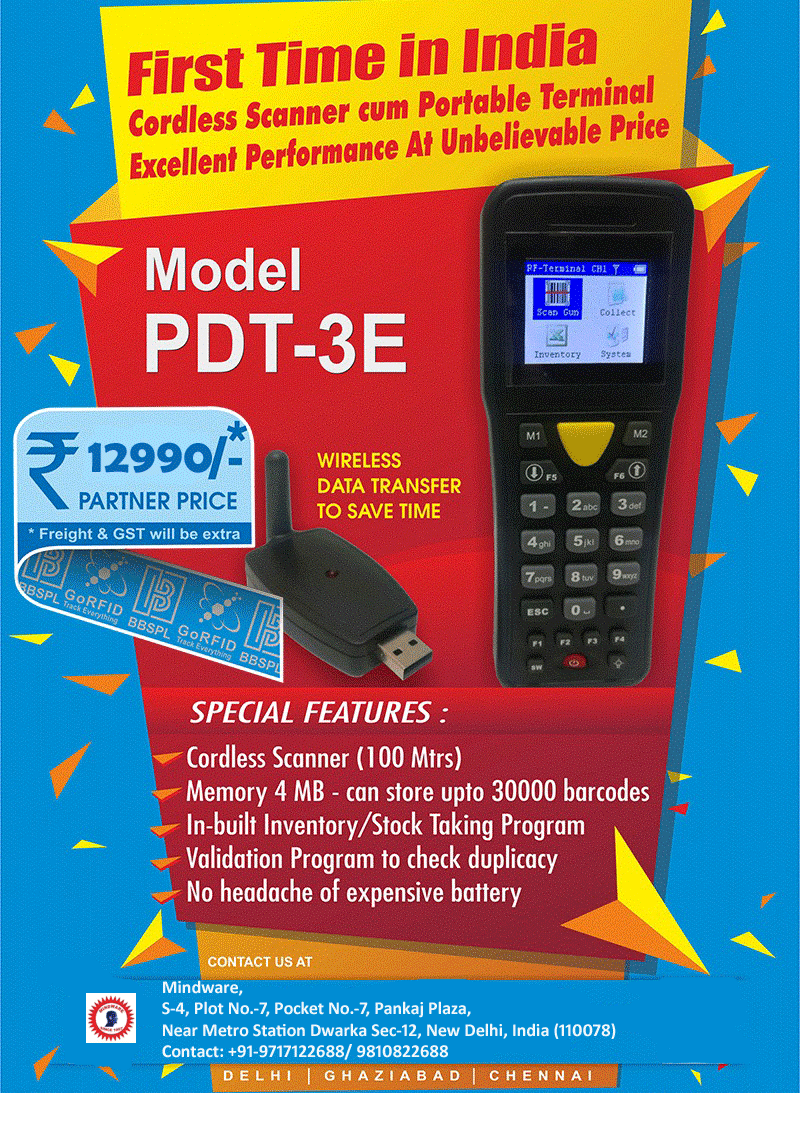 PDT-3E Barcode Scanner in Delhi